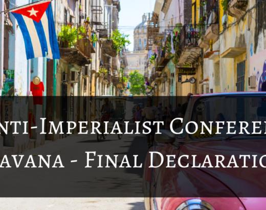 Anti-Imperialist Conference - Havana - Final Declaration